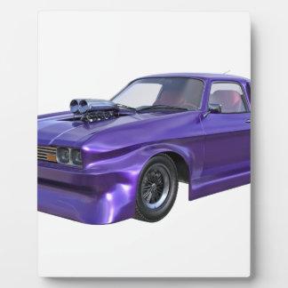 2016 Purple Muscle Car Plaque