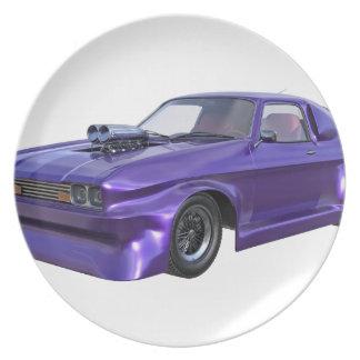 2016 Purple Muscle Car Plate