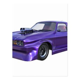 2016 Purple Muscle Car Postcard