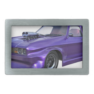 2016 Purple Muscle Car Rectangular Belt Buckles