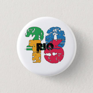 2016 Rio de Janeiro Brazil the Olympic Games 1 Inch Round Button