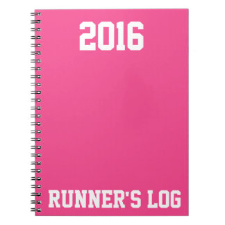 2016 Runner's Log: Running Activity & Training Spiral Notebook