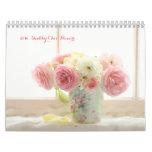 2016 shabby chic flowers wall calendars