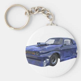 2016 Star Blue Muscle Car Keychain