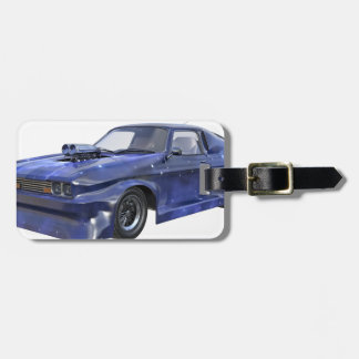 2016 Star Blue Muscle Car Luggage Tag