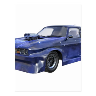 2016 Star Blue Muscle Car Postcard