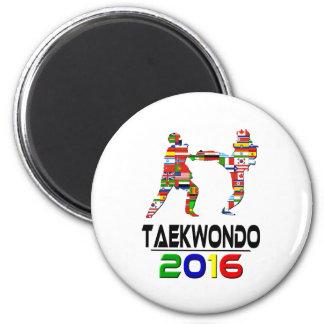 2016:Taekwondo 2 Inch Round Magnet