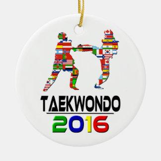 2016:Taekwondo Ceramic Ornament