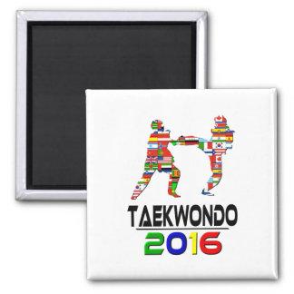 2016:Taekwondo Square Magnet