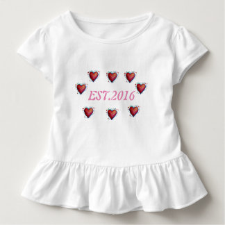 2016  Toddler Tee Established , 1st Yea  Birthday