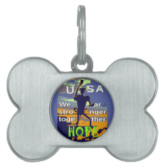 2016 US election Hillary Clinton hope Stronger Tog Pet Name Tag