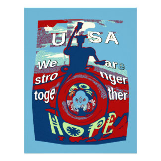 2016 USA Have a Nice Day Hillary Stronger Together Customized Letterhead