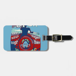 2016 USA Have a Nice Day Hillary Stronger Together Luggage Tag