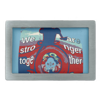 2016 USA Have a Nice Day Hillary Stronger Together Rectangular Belt Buckle