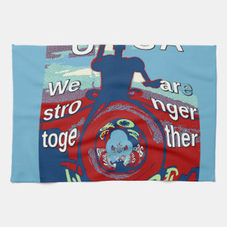 2016 USA Have a Nice Day Hillary Stronger Together Towel