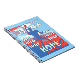 2016 USA Lovely Hillary Blue We Are Stronger Toget Notebooks