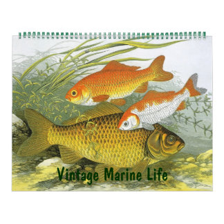 2016 Vintage Marine Life Fish, Oceans and Rivers Wall Calendars