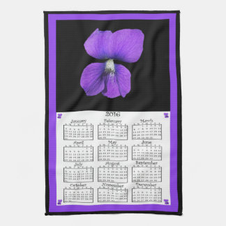 2016 Violets cloth calendar
