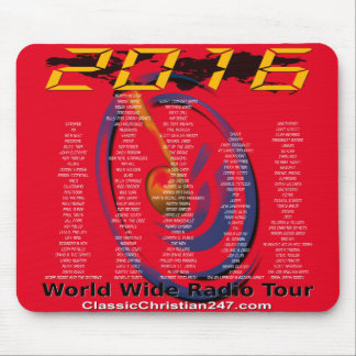 "2016 ""World Wide Radio Tour"" Mouse Pad"