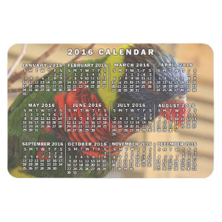 2016 Year Monthly Calendar Personalized Photo Magnet