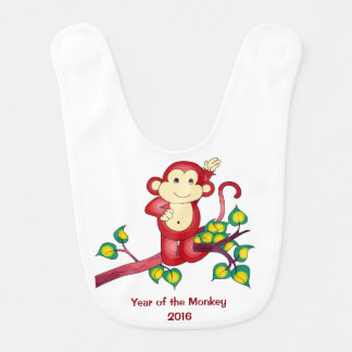 2016 Year of the Monkey Baby Bib