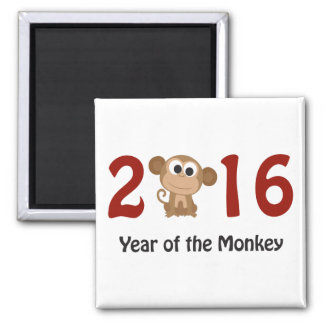 2016 Year of the Monkey Square Magnet