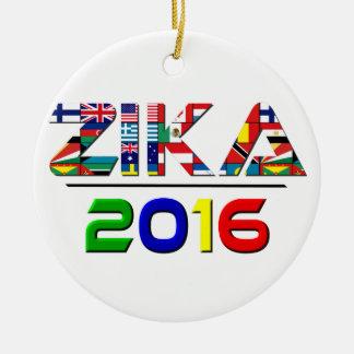 2016 ZIKA ROUND CERAMIC ORNAMENT