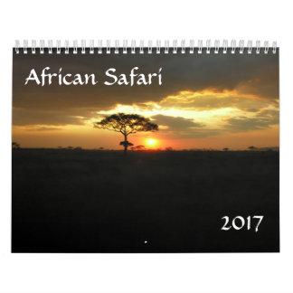 2017 African Safari Calendar