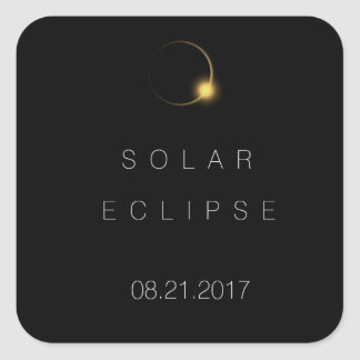 2017 American Total Solar Eclipse Square Sticker