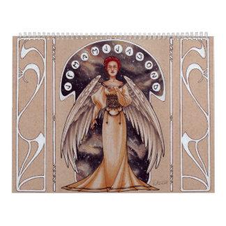 2017 Art Nouveau Ladies Wall Calendars