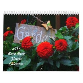 2017 Back Deck Flower Calendar