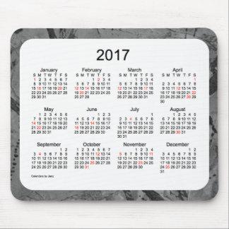 2017 Black Art Holiday Calendar by Janz Mouse Pad