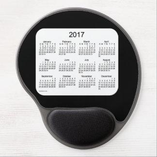 2017 Black Calendar Gel Mouse Pad