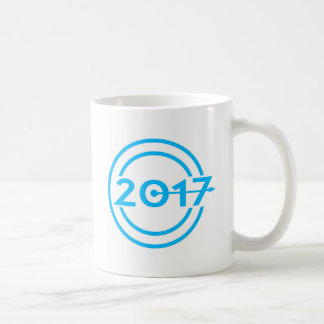 2017 Blue Date Clock Coffee Mug