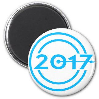 2017 Blue Date Clock Magnet