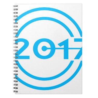 2017 Blue Date Clock Notebooks