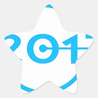 2017 Blue Date Clock Star Sticker