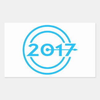 2017 Blue Date Clock Sticker