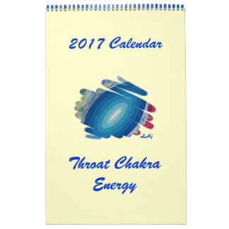 2017 Calendar Blue Spirals Art Single Page