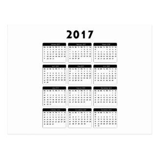 2017 Calendar jGibney The MUSEUM Zazzle Gifts Postcard