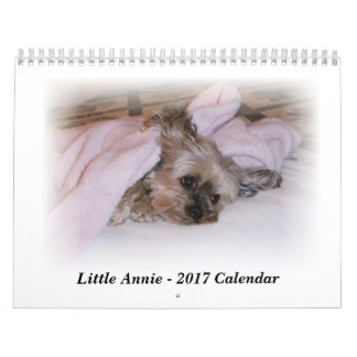 2017 Calendar of 5-lb Yorkie who smiles on command