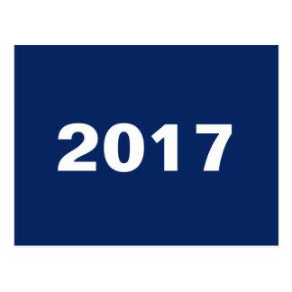 2017 DESIGN CUSTOM TEMPLATE BLUE POSTCARD