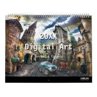 2017 Digital Surreal & Fantasy Art Calendars