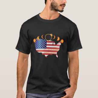 2017 Eclipse Across America Moon Phase Tour T-Shirt