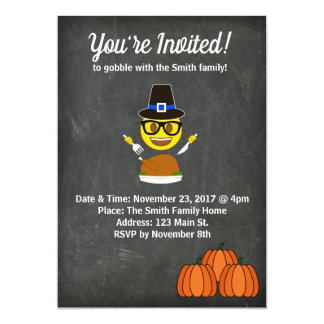 2017 Emoji Thanksgiving Dinner Invitation