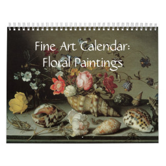2017 Fine Art Calendar Floral Paintings