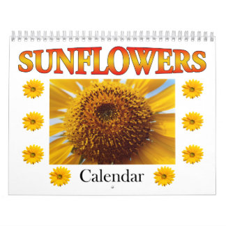 2017 Flower Calendar, Sunflower Calendar