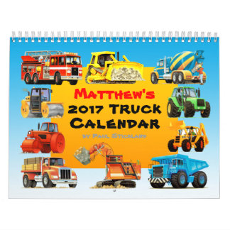 2017 Giant Construction Truck Calendar