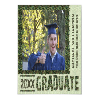 2017 Graduation Camouflage Photo Announcement Magnetic Invitations