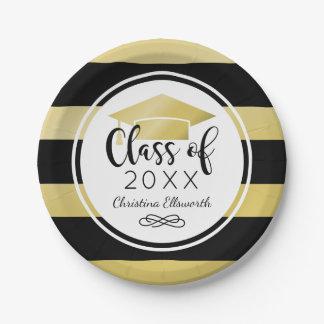 2017 Graduation Plates | Gold Grad Cap